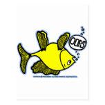 ¡Encima de lado abajo pesque! Tarjetas Postales