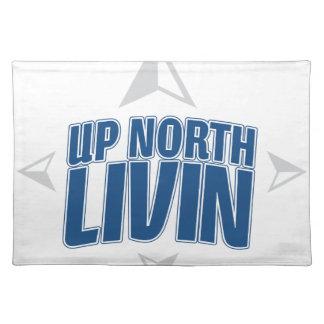 Encima de Livin del norte - compás Mantel Individual