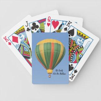 Encima de naipes tempranos del globo del aire cali baraja cartas de poker