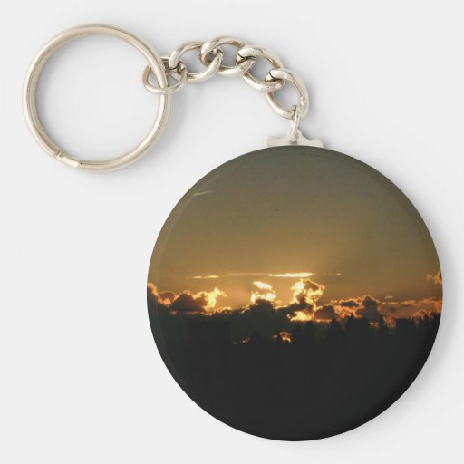 encima de puesta del sol llavero personalizado