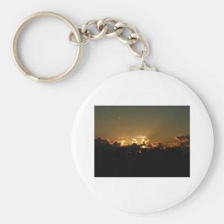 encima de puesta del sol llavero redondo tipo pin