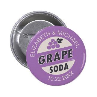 Encima de soda de la uva del boda el | pin redondo de 2 pulgadas