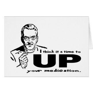 ENCIMA de su medicación Felicitacion