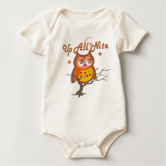 Encima de todo el bebé del búho de Nite Mamelucos De Bebé