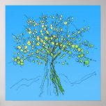 encima de un poster del árbol - colores frescos