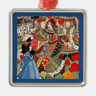 Encima de usted la cosa perezosa dice a la reina a adorno navideño cuadrado de metal