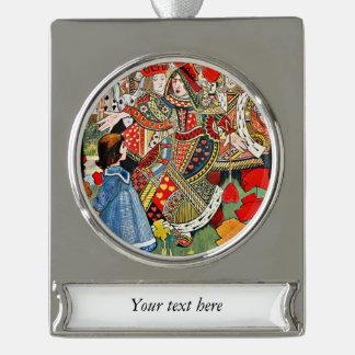 Encima de usted la cosa perezosa dice a la reina a adornos navideños plateados