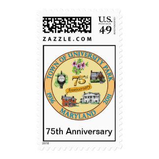 ENCIMA del 75.o sello del logotipo del aniversario