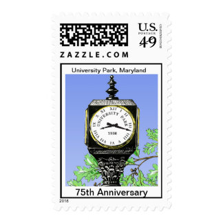 ENCIMA del 75.o sello del reloj del aniversario