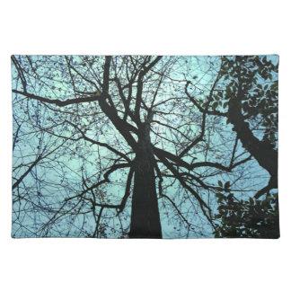 Encima del árbol manteles individuales