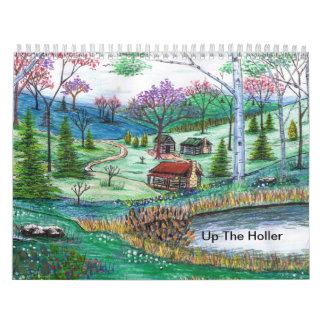 Encima del Holler Calendario De Pared