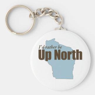 Encima del norte - Wisconsin Llavero Personalizado