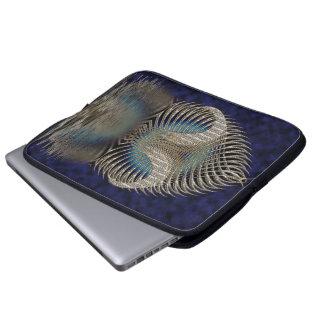 Encima del océano funda computadora