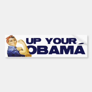 Encima el suyo Obama Pegatina De Parachoque