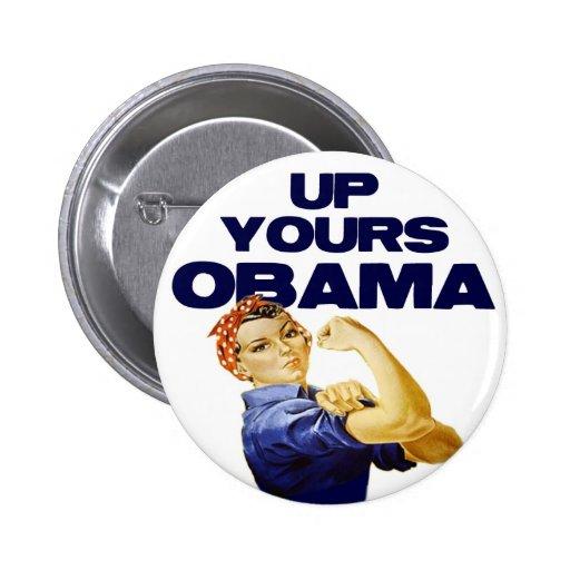 Encima el suyo Obama Pin