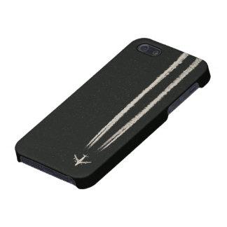 Encima en de la estela de vapor del cielo/del aero iPhone 5 funda