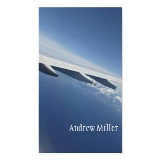 Encima en del ala del aeroplano de Seat del cielo/ Tarjetas De Visita