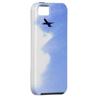 Encima en del cielo azul l aeroplano de aviones funda para iPhone 5 tough