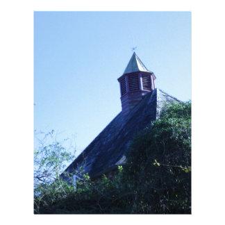 Encima en del top del tejado plantilla de membrete
