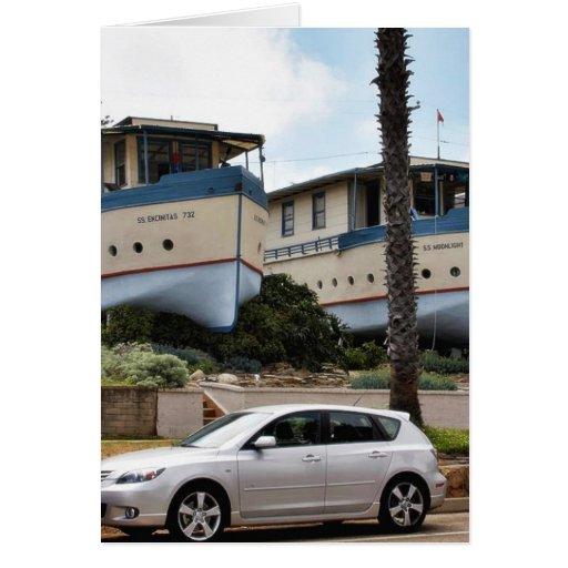 Encinitas Boat Houses Greeting Card