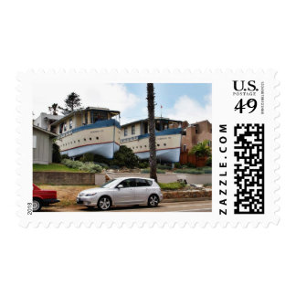 Encinitas Boat Houses Postage Stamp