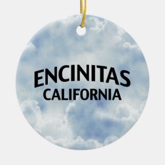 Encinitas California Ceramic Ornament