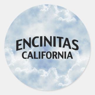 Encinitas California Classic Round Sticker