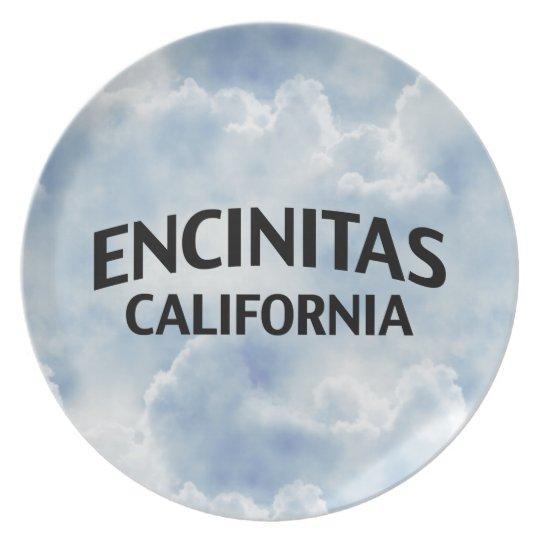Encinitas California Dinner Plate