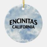 Encinitas California Double-Sided Ceramic Round Christmas Ornament