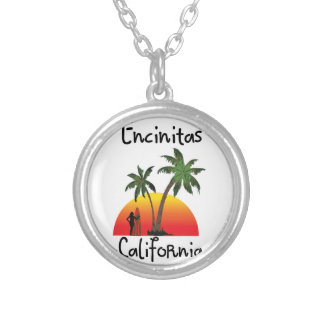Encinitas California. Silver Plated Necklace