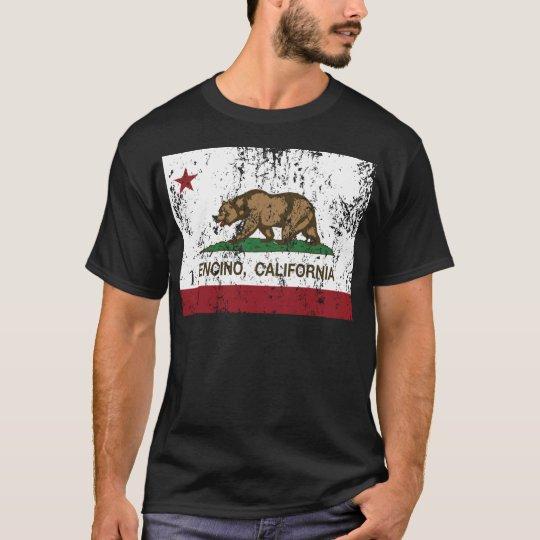 encino de la bandera de California apenado Playera