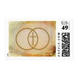 Encircled Cross Matching Postage Stamp
