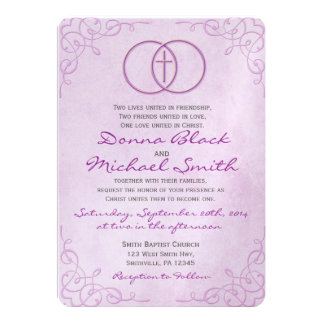 Wedding Gifts For Christian Bride : Encircled Cross Religious Wedding Invitations