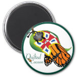 Encircled Quilted Cocoon Fridge Magnet