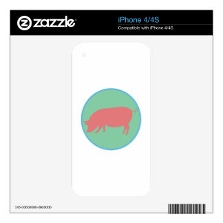 Encircled Swine iPhone 4S Skins