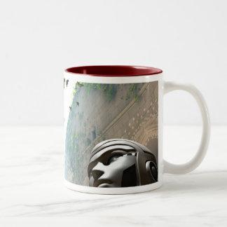 Enclave of Self-awareness, by Joseph Maas Two-Tone Coffee Mug
