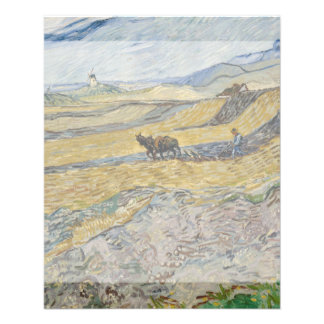 Enclosed Field with Ploughman by Vincent Van Gogh Flyer