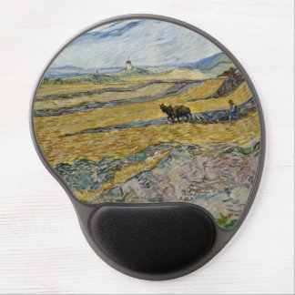 Enclosed Field with Ploughman by Vincent Van Gogh Gel Mouse Mat