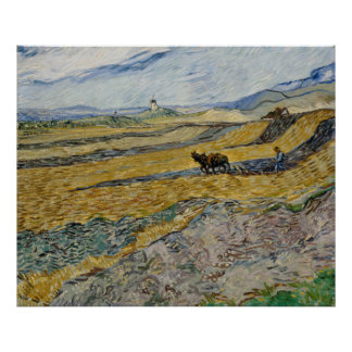 Enclosed Field with Ploughman by Vincent Van Gogh Print
