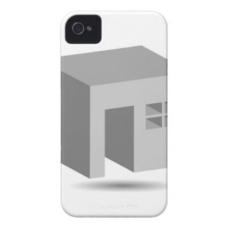 Enclosed space with opening iPhone 4 Case-Mate case