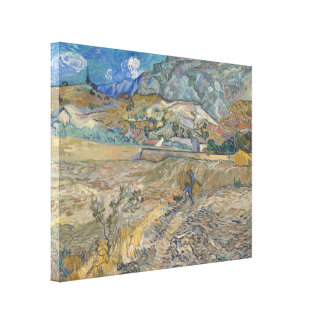 Enclosed Wheat Field with Peasant by Van Gogh Canvas Print