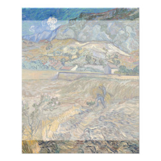 Enclosed Wheat Field with Peasant by Van Gogh Flyer