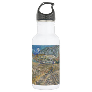 Enclosed Wheat Field with Peasant by Van Gogh Stainless Steel Water Bottle