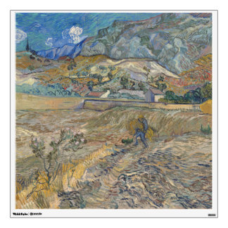 Enclosed Wheat Field with Peasant by Van Gogh Room Stickers