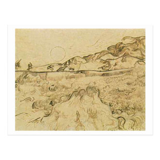 Enclosed Wheat Field with Reaper, Vincent van Gogh Postcard