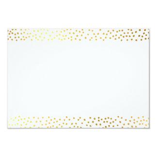 ENCLOSURE CARD chic rustic gold mini confetti