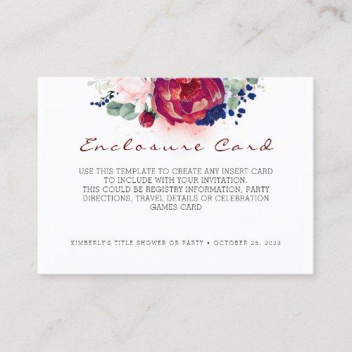 Enclosure Card  Game or Details  Info Card