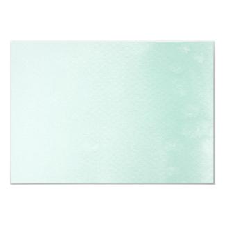 ENCLOSURE CARD :: ombre watercolor pastel mint
