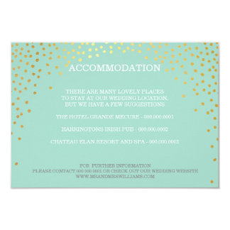 ENCLOSURE chic rustic mini gold confetti mint Card