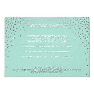 ENCLOSURE chic rustic mini silver confetti mint Card